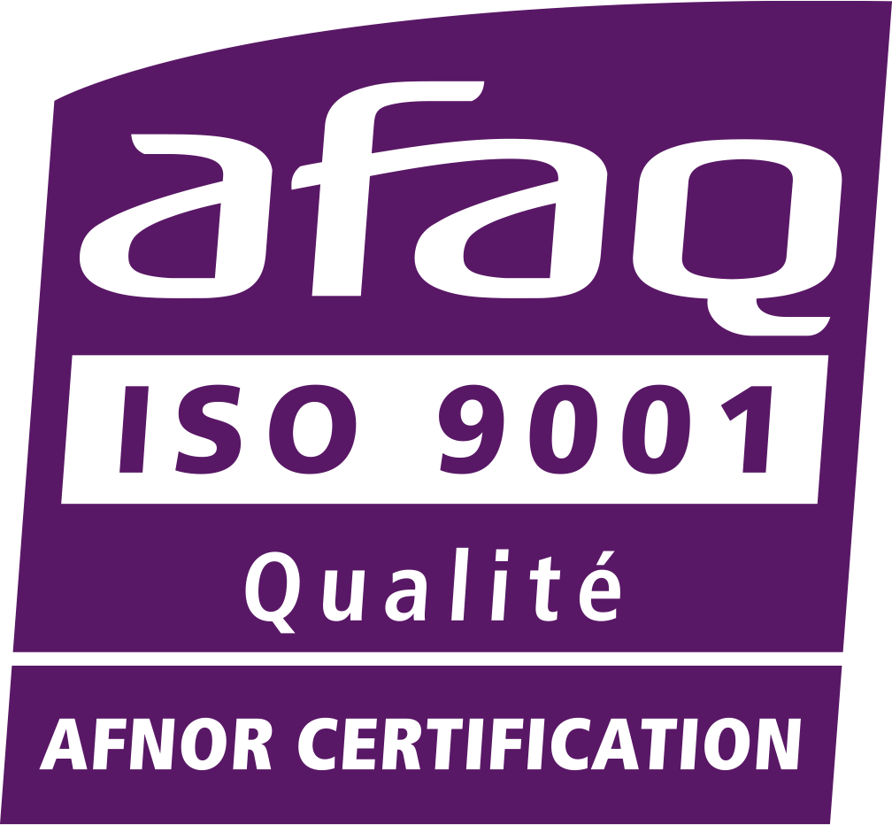 la certification ISO 9001 est délivrée par l'AFNOR